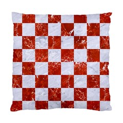 Square1 White Marble & Red Marble Standard Cushion Case (one Side) by trendistuff