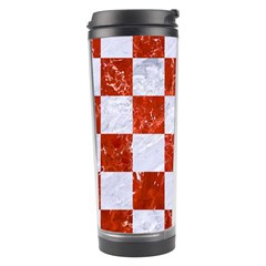 Square1 White Marble & Red Marble Travel Tumbler by trendistuff