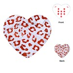 SKIN5 WHITE MARBLE & RED MARBLE Playing Cards (Heart)  Front