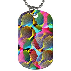 3d Pattern Mix Dog Tag (one Side)