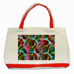 3d Pattern Mix Classic Tote Bag (red)
