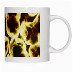 Abstract Pattern White Mugs Right