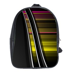 Abstract Multicolor Vectors Flow Lines Graphics School Bag (large) by Sapixe