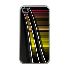 Abstract Multicolor Vectors Flow Lines Graphics Apple Iphone 4 Case (clear)