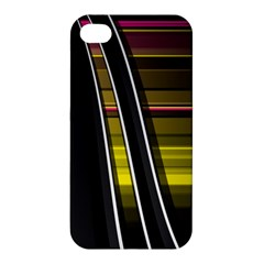 Abstract Multicolor Vectors Flow Lines Graphics Apple Iphone 4/4s Premium Hardshell Case by Sapixe