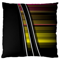 Abstract Multicolor Vectors Flow Lines Graphics Large Cushion Case (one Side) by Sapixe