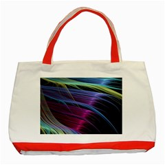 Abstract Satin Classic Tote Bag (red)