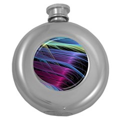 Abstract Satin Round Hip Flask (5 Oz) by Sapixe