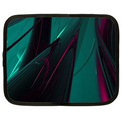 Abstract Green Purple Netbook Case (xxl)