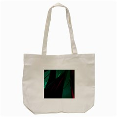 Abstract Green Purple Tote Bag (cream)