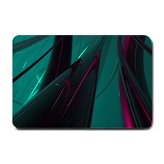 Abstract Green Purple Small Doormat