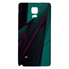 Abstract Green Purple Galaxy Note 4 Back Case