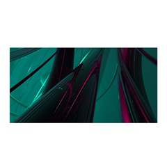 Abstract Green Purple Satin Wrap by Sapixe