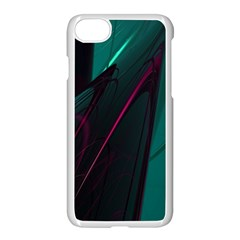 Abstract Green Purple Apple Iphone 8 Seamless Case (white) by Sapixe