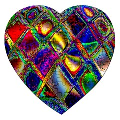 Abstract Digital Art Jigsaw Puzzle (heart)