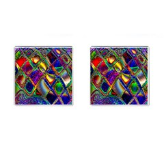 Abstract Digital Art Cufflinks (square)