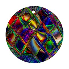 Abstract Digital Art Round Ornament (two Sides) by Sapixe