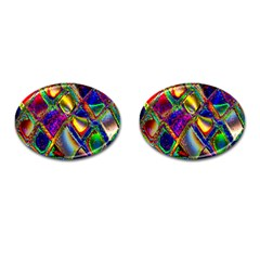 Abstract Digital Art Cufflinks (oval) by Sapixe