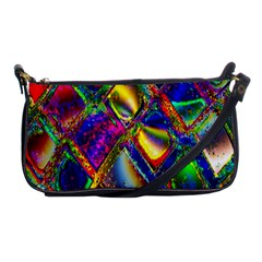 Abstract Digital Art Shoulder Clutch Bags by Sapixe