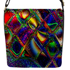 Abstract Digital Art Flap Messenger Bag (s) by Sapixe