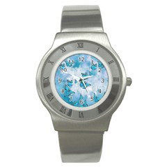 Adorable Butterflies, Aqua Stainless Steel Watch by MoreColorsinLife