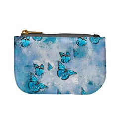 Adorable Butterflies, Aqua Mini Coin Purses by MoreColorsinLife