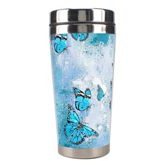 Adorable Butterflies, Aqua Stainless Steel Travel Tumblers by MoreColorsinLife