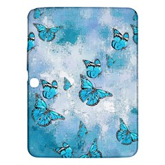 Adorable Butterflies, Aqua Samsung Galaxy Tab 3 (10 1 ) P5200 Hardshell Case  by MoreColorsinLife