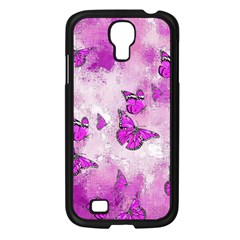 Adorable Butterflies, Pink Samsung Galaxy S4 I9500/ I9505 Case (black) by MoreColorsinLife
