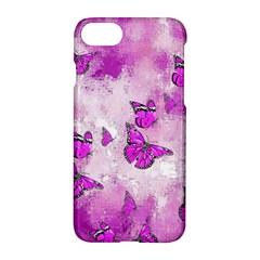 Adorable Butterflies, Pink Apple Iphone 7 Hardshell Case by MoreColorsinLife