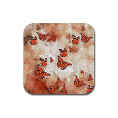 Adorable Butterflies, Terra Rubber Coaster (square)  by MoreColorsinLife