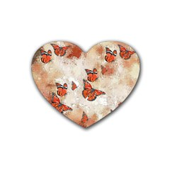 Adorable Butterflies, Terra Heart Coaster (4 Pack)  by MoreColorsinLife