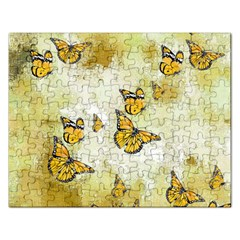 Adorable Butterflies, Yellow Rectangular Jigsaw Puzzl by MoreColorsinLife