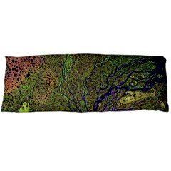 Lena River Delta A Photo Of A Colorful River Delta Taken From A Satellite Body Pillow Case (dakimakura) by Simbadda