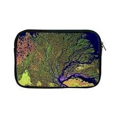 Lena River Delta A Photo Of A Colorful River Delta Taken From A Satellite Apple Ipad Mini Zipper Cases by Simbadda