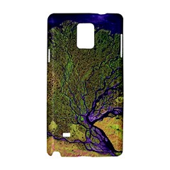 Lena River Delta A Photo Of A Colorful River Delta Taken From A Satellite Samsung Galaxy Note 4 Hardshell Case