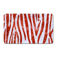 Skin4 White Marble & Red Marble Magnet (rectangular) by trendistuff