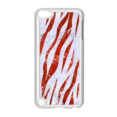 Skin3 White Marble & Red Marble (r) Apple Ipod Touch 5 Case (white) by trendistuff