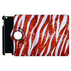 Skin3 White Marble & Red Marble Apple Ipad 2 Flip 360 Case by trendistuff