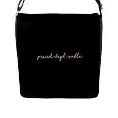 Proud Deplorable Maga Women For Trump With Heart And Handwritten Text Flap Messenger Bag (l)