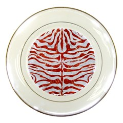 Skin2 White Marble & Red Marble (r) Porcelain Plates by trendistuff