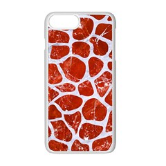 Skin1 White Marble & Red Marble (r) Apple Iphone 8 Plus Seamless Case (white) by trendistuff