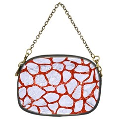 Skin1 White Marble & Red Marble Chain Purses (one Side)  by trendistuff