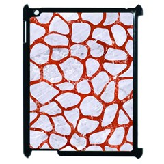 Skin1 White Marble & Red Marble Apple Ipad 2 Case (black) by trendistuff