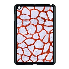 Skin1 White Marble & Red Marble Apple Ipad Mini Case (black) by trendistuff
