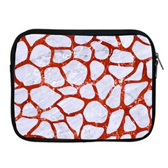 Skin1 White Marble & Red Marble Apple Ipad 2/3/4 Zipper Cases