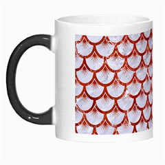 Scales3 White Marble & Red Marble (r) Morph Mugs by trendistuff