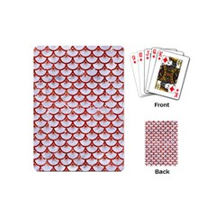 Scales3 White Marble & Red Marble (r) Playing Cards (mini)  by trendistuff