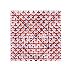 Scales3 White Marble & Red Marble (r) Acrylic Tangram Puzzle (4  X 4 ) by trendistuff