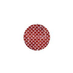 Scales3 White Marble & Red Marble 1  Mini Magnets by trendistuff